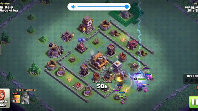 Clash of clans attacker in (night mod )