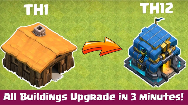 Journey of Th1 to Th12 in 3 minutes - Clash of Clans