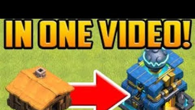 Town Hall 1 To 12 Time Lapse | Clash of Clans