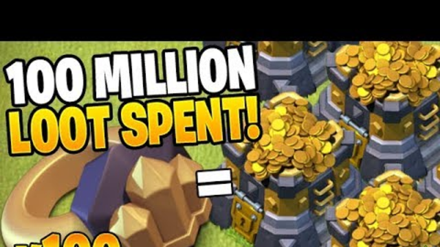 USING 100 WALL RINGS WORTH 100 MILLION LOOT! - Clash of Clans