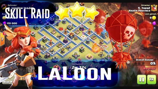THE SKILL RAID - LAVALOON & DRAGON STRATEGY ATTACK 3-STAR TH12 ( Clash of Clans )