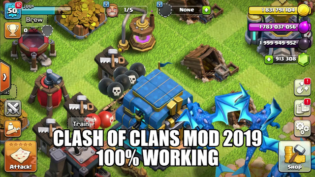 CLASH OF CLANS MOD 100% WORKING 2019