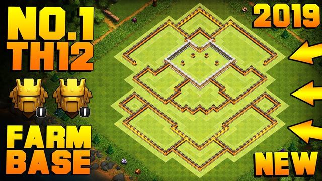 BEST TH12 FARMING BASE TITANS 2019 w/ PROOF!! | NEW CoC Town Hall 12 Hybrid Base | Clash of Clans