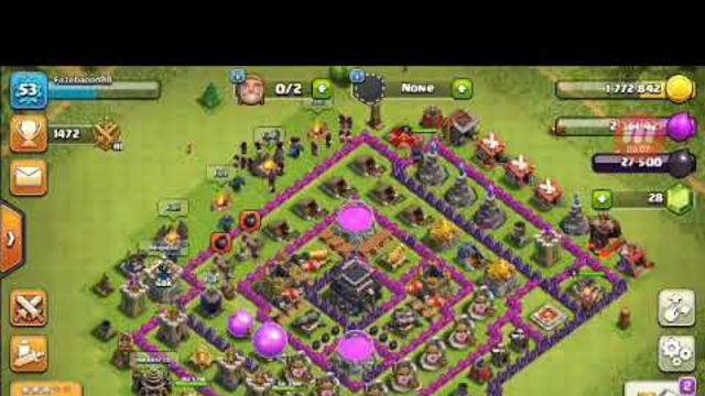 Doing battles in clash of clans