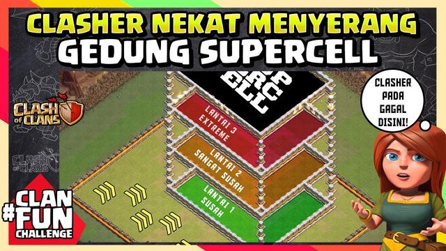 GEDUNG COC DISERANG CLASHER!! Pada PANIK SERANGANNYA!! | CFC Indonesia