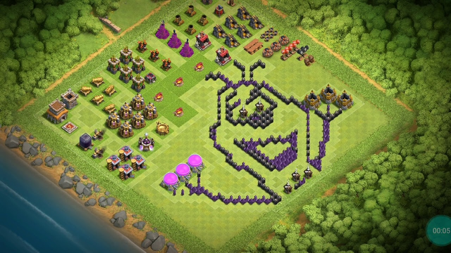Clash of clans th8 village for copy