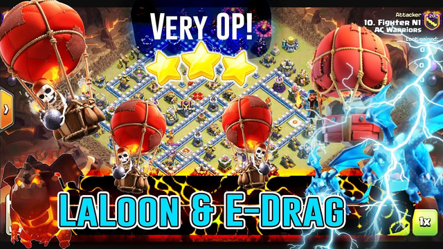 Very OP!! LaVaLoon Attack Strategy & E-Dragon Smash War Base TH12 3 Stars ( Clash of Clans )
