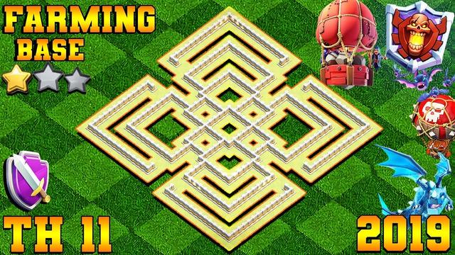 Maze Coc Th11 Farming Base 2