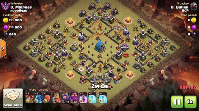 RCP CLAN 3 star raid on th12!! EDRAGS LOONS 7 FREEZE RAGE / baller clash of clans