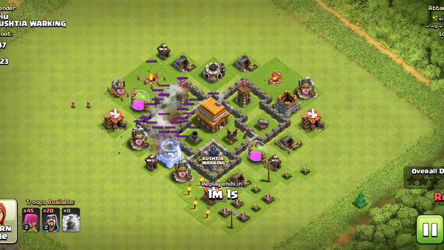 Clash Of Clans - Defense Th 4 part 2
