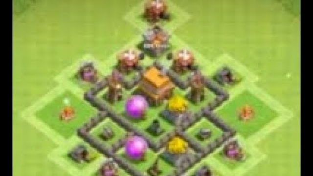 Clash Of Clans town hall 4 base design