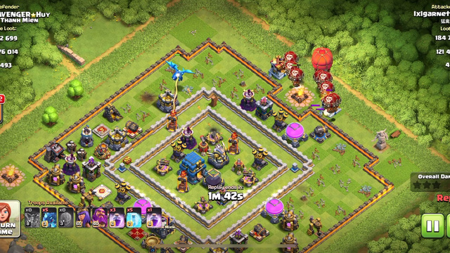 Clash of Clans | Destroy Town Level 12 with 3 Stars using Electro Dragon and Ballon