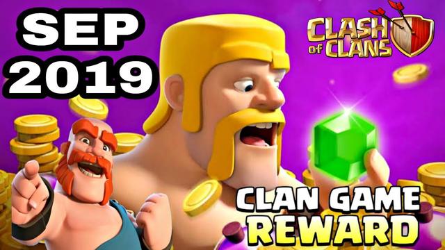 SEP 2019 CLAN GAME REWARDS LEAKS in clash of clans