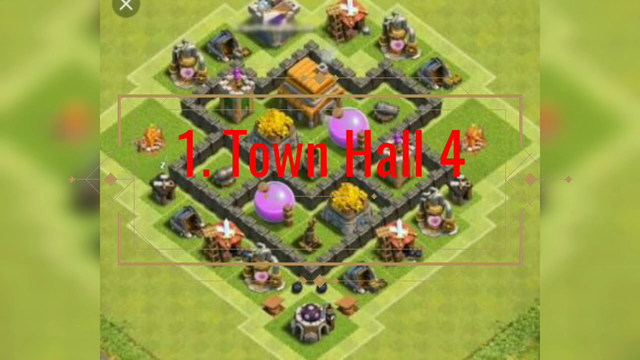 Top bases from town hall 4 to 12 for clash of clans