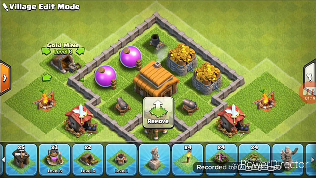 Clash Of Clans Amazing TH3 Base :D