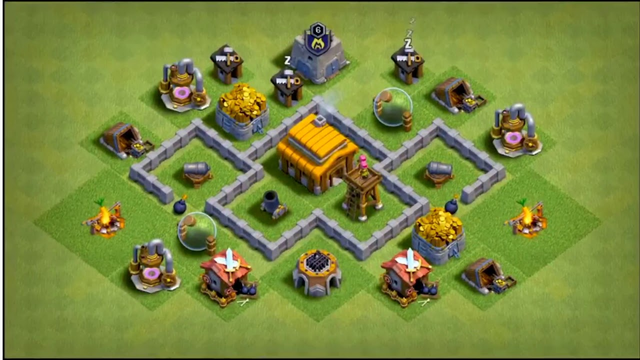 Clash of clans bases for th3 and th4