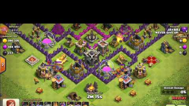 Clash of clans best attack 2golem+4peka+10wizard