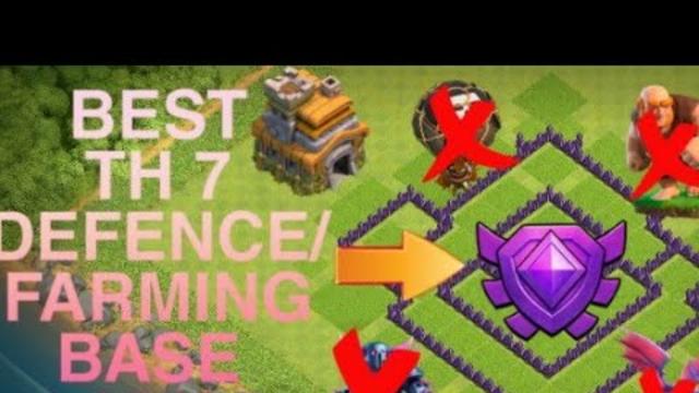 Best TH 7 Defence/Farming Base Clash Of Clans 2019    Titan Gamer
