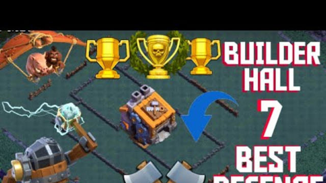 BUILDER HALL 7 WORLD BEST DEFENCE CLASH OF CLANS-MAGNETTO GAMING WORLD