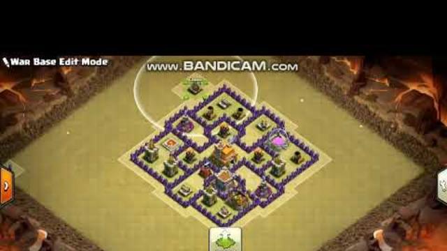 Clash Of Clans TH 7 War Base