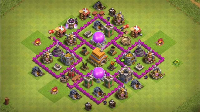 Clash of Clans Th6 trophy base! |My First Video