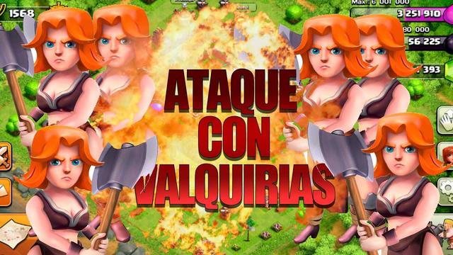 Ataque SOLO con VALQUIRIAS en Clash of CLANS - TH8
