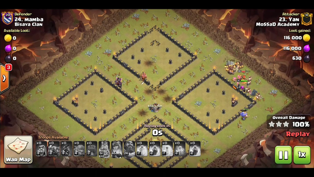 clash of clans TH12 three stars by one player