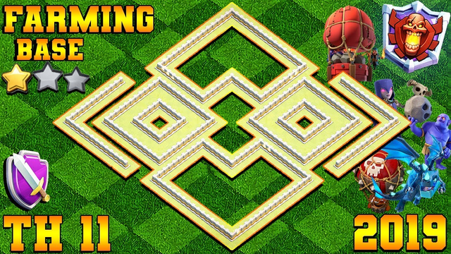 NEW BEST! Farming Base Town Hall 11 (TH11) 2019 | OVER POWER BASE | CLASH OF CLANS