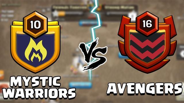 Mystic Warriors vs Avengers   Live Clan War Clash of Clans - COC