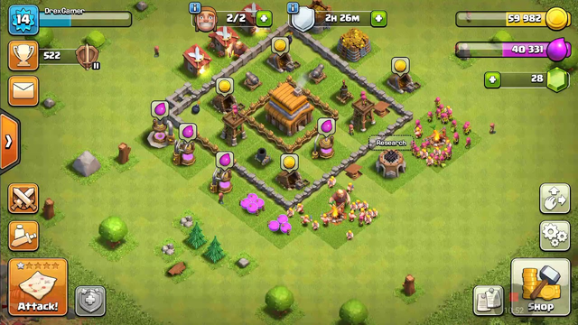 Playing Clash of Clans with clan