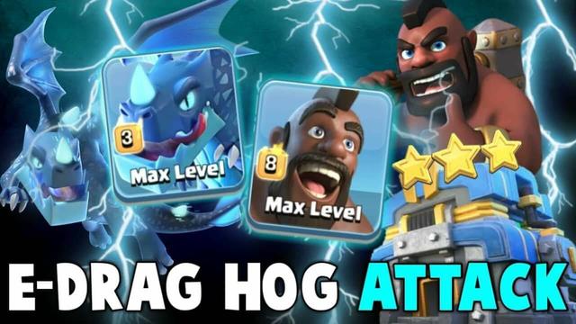 New Hog Attack 2019! 2 Max Electro Dragon  Max Hogs Smashing TH12 War Base   Clash Of Clans Clash