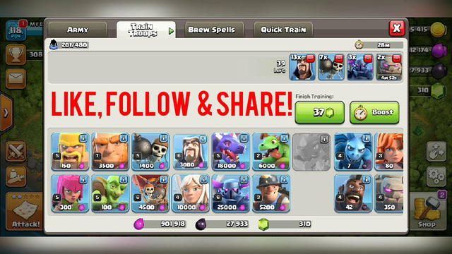 Super Cell Clash of Clans Town Hall 10 Attack!