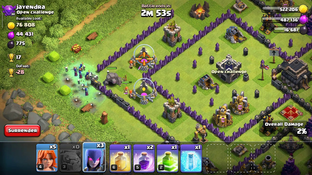 Clash of clans attack with 2 stars(1)