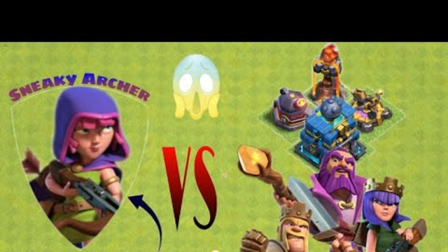 5 Sneaky Archer VS every single defence & Heroes | Clash of Clans