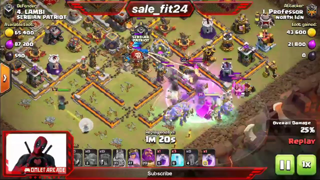 Clash of Clans attack on legend