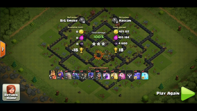 Clash of clans town hall 9 best strategy attack for ground
