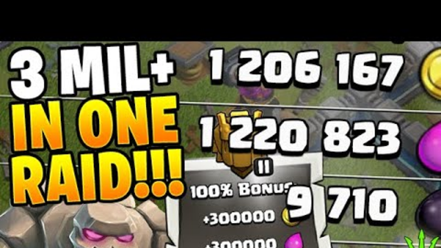 OVER 3 MILLION LOOT GAINED IN 1 ATTACK! - Clash of Clans