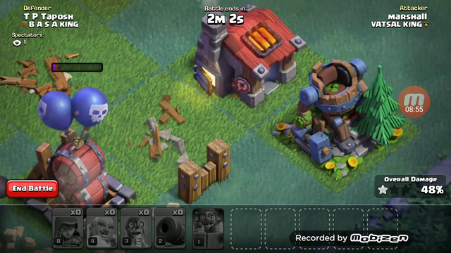 Clash of clans ep1 (geting new town hall 2 base)