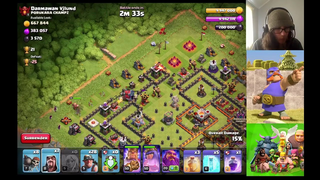 PUSHING THE TOWN HALL 11 AND THEN MAYBE FARMING THE BARBARIAN ACCOUNT??? CLASH OF CLANS