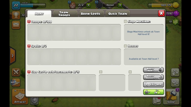 playing clash of clans