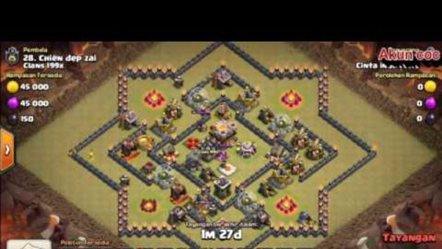 Game coc || Nyerang (Base Bintang TH 11) mini defense tanpa ampun.