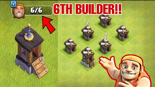 6TH BUILDER IN MAIN VILLAGE !! HOW TO GET 6TH MASTER BUILDER IN CLASH OF CLANS - Clash with kvn