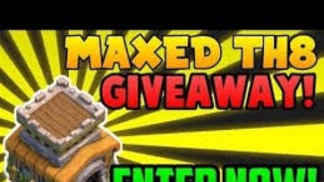 TODAY TH 8 GIVEAWAY LIVE CLASH OF CLANS