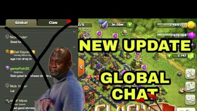 Clash of clans new update   global chat going to no more