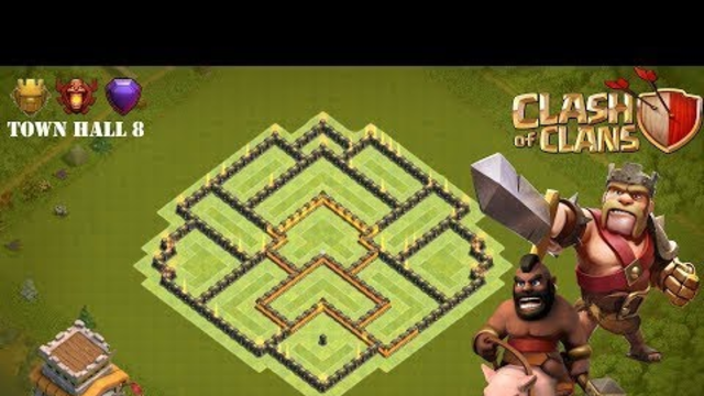 Town Hall 8 Hybird Base - Clash Of Clans