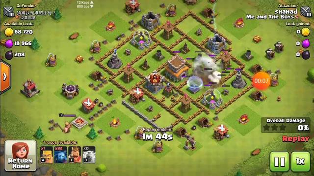 Th8 super minion attack /Clash of Clans *** my frist video