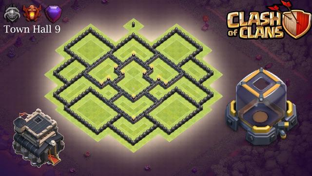 Town Hall 9 Dark Elixir Base - Clash of Clans (TH9)