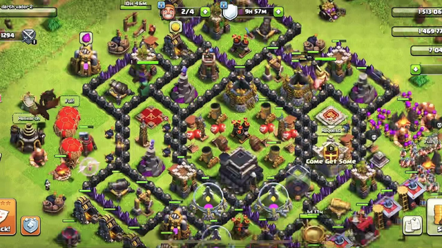 Clash of clans maxing our town hall 9