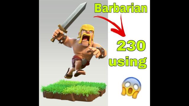 Clash of clans barbarian using 230 war challenge epic Telugu Gamer