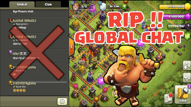 BIG ANNOUNCEMENT | SUPERCELL IS REMOVING GLOBAL CHAT FEATURE FROM COC